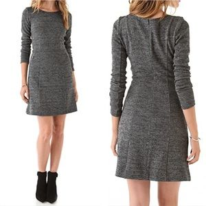 Theory pallavi long sleeve gray dress with pockets